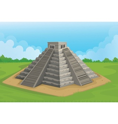 Pyramid of the sun chichen itza vector