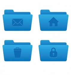 04 blue folders internet icons vector