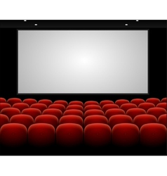 Cinema auditorium with blank screen vector