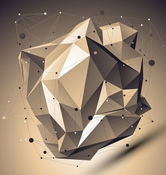 Contemporary technology bronze asymmetric stylish vector
