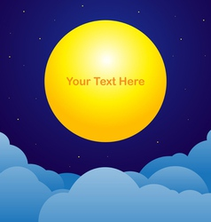 Night sky background with moon text space vector