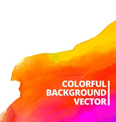 Colorful watercolor background design vector