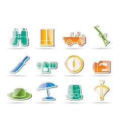 Safari and holiday icons vector