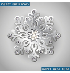 Holiday christmas background with silver jewelry vector