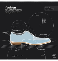 Man shoe design vector