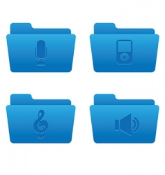 05 blue folders internet icons vector