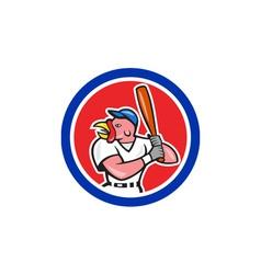Turkey baseball hitter batting circle cartoon vector