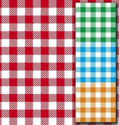 Retro tablecloth texture vector