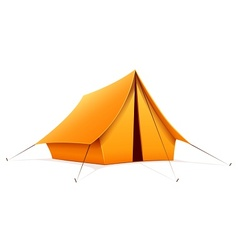 Touristic camping tent vector