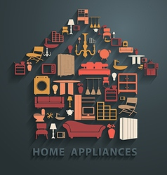 Flat design concepts home appliances icons vector