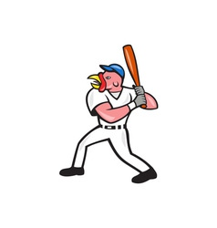 Turkey baseball hitter batting isolated cartoon vector