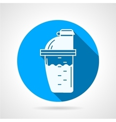 Supplements shaker flat icon vector