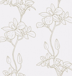 seamless background with orchids vector