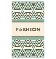Invitation or card with fashion pattern vector