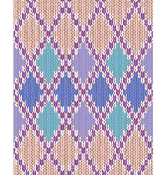 Knit seamless jacquard ornament texture vector