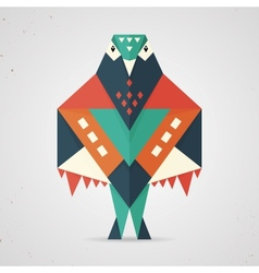 Colourful origami pigeon or dove vector