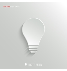 Light bulb icon - web background vector