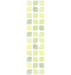 Abstract textile green rounded squares vertical vector