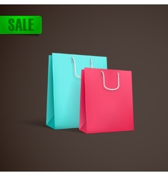 Colorful shopping bags mock-up vector