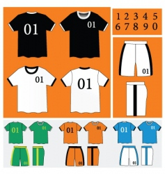 Soccer uniform vector