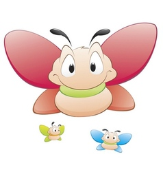 Cute cartoon butterflies vector