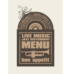 Restaurant with jazz music vector