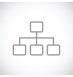 Structure black icon vector