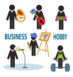 Business hobby vector