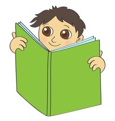 Boy read vector