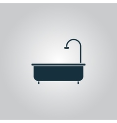Bathtub icon vector