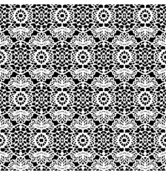Lace white seamless pattern on black background vector