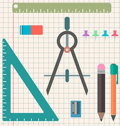 Chancellery set of objects in a flat style vector