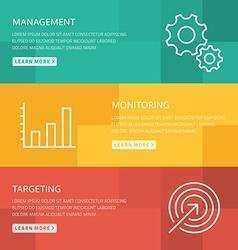 Flat design concept for management monitoring vector