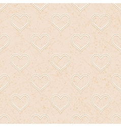 Seamless with polka dotted hearts vector