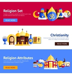 Religion banner set vector