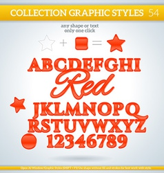 Red graphic styles for design use for decor text vector