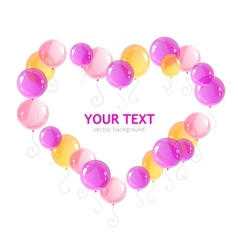 Heart ballons and text vector