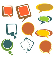 Colorful chat bubbles vector