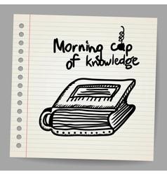 Book-cup doodle concept vector