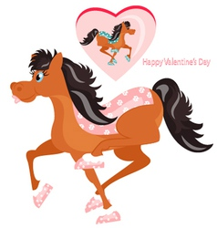 Happy horses vector
