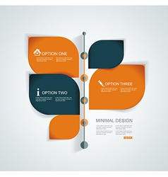 Time line design template with paper tags vector