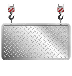 Metal board vector