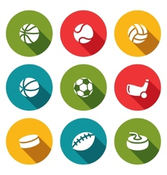 Sports icon collection vector