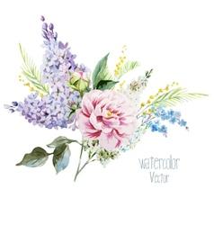 Lilac bouquet vector