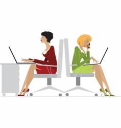 Office women vector