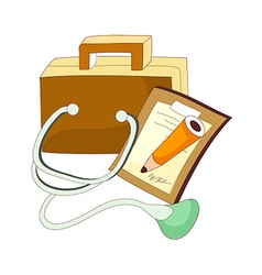 A view of stethoscope vector