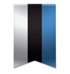 Ribbon banner - estonian flag vector