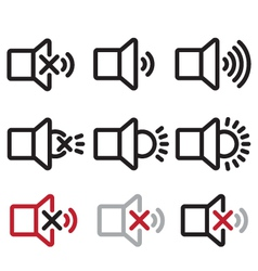 Sound and lamp icons vector
