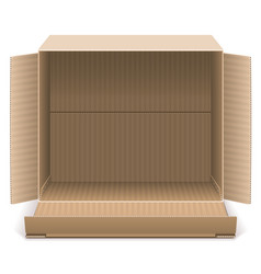 Open carton box vector