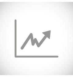 Graph black icon vector